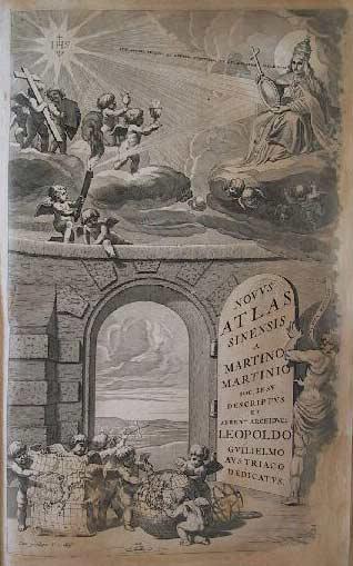 Portada de Martino Martini, Novus atlas sinensis, Ámsterdam, 1655.